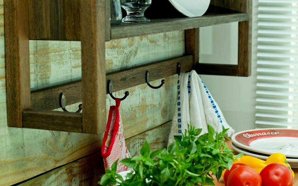 Armario Aereo Gourmet Troia Stain Nogueira 86cm - 61422