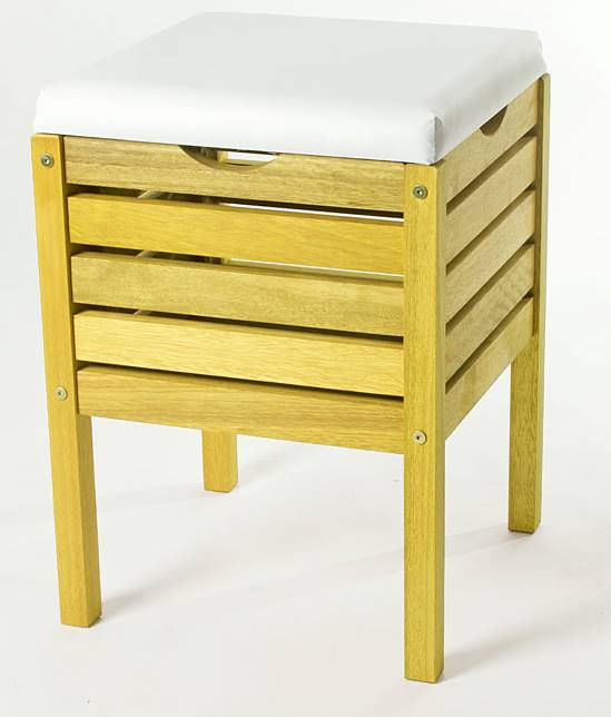 Banco Cesto Troia Estrutura Amarelo 50cm - 61459