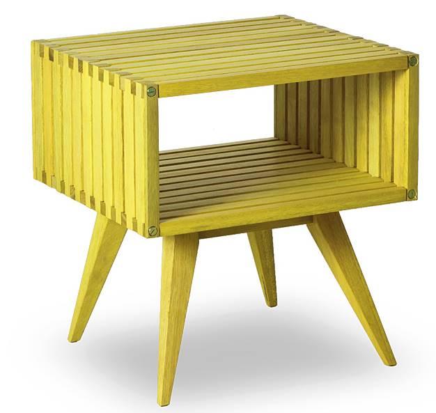 Mesa Apoio Dominoes Estrutura Amarelo 22cm - 61480