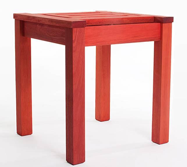 Mesa Lateral Echoes Estrutura Vermelho 44cm - 61571