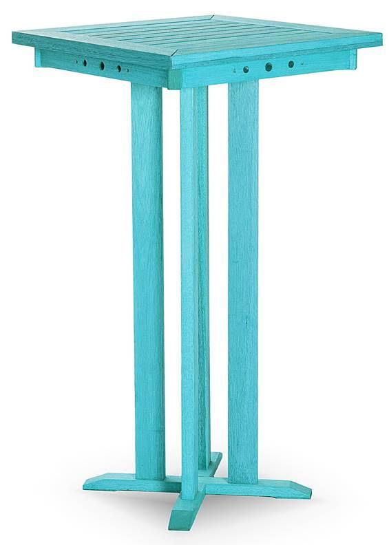 Mesa Bar Alta Estrutura Azul 110cm - 61611