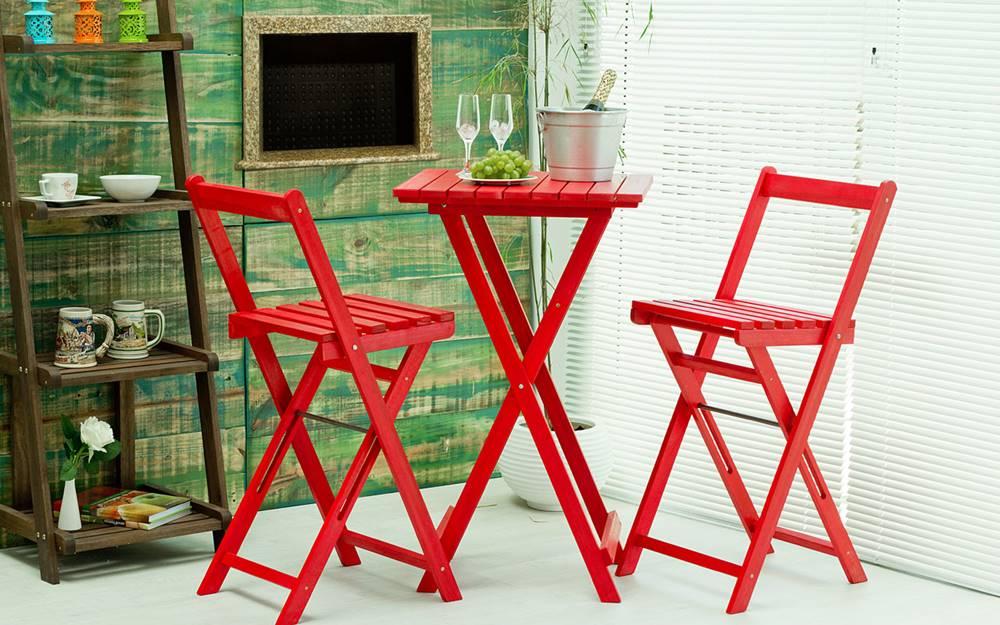 Banqueta Alta Bistro Vermelha 100cm - 61627