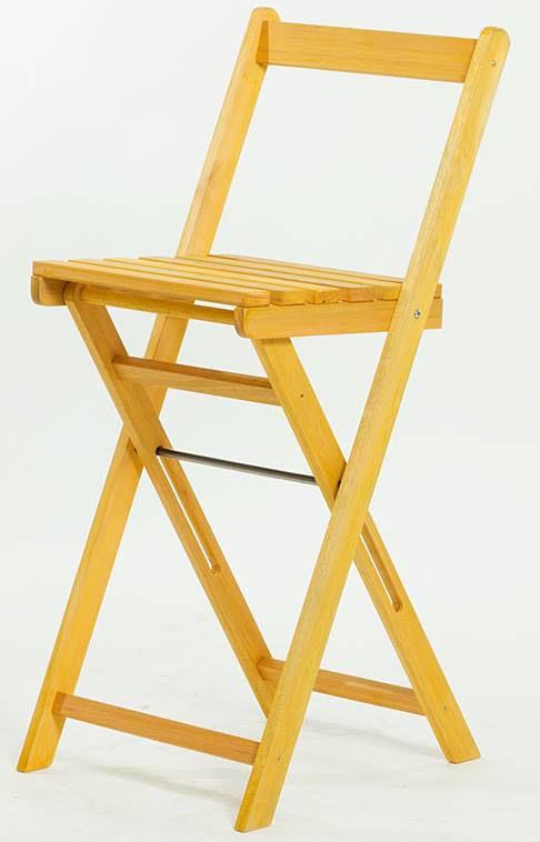 Banqueta Alta Bistro Amarelo 100cm - 61629