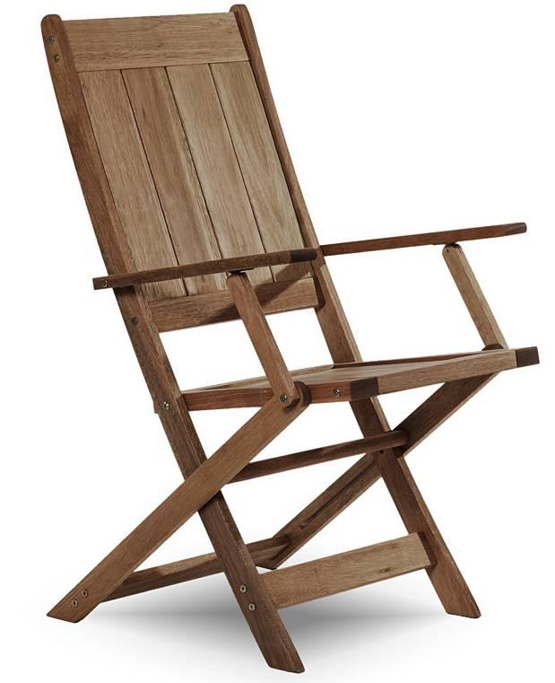 Cadeira Retangular Dobravel Acqualung+ C/ Braco Stain Nogueira 99cm - 61638