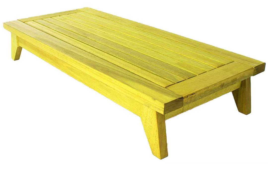 Banco Meditacao Zen com Almofada Estrutura Amarelo 100cm - 61659