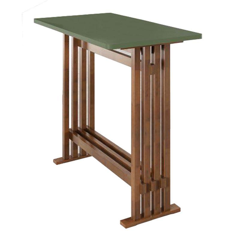 Mesa-Bento-Tampo-Laca-Verde-Musgo-com-Base-Pinhao-100-cm---51496