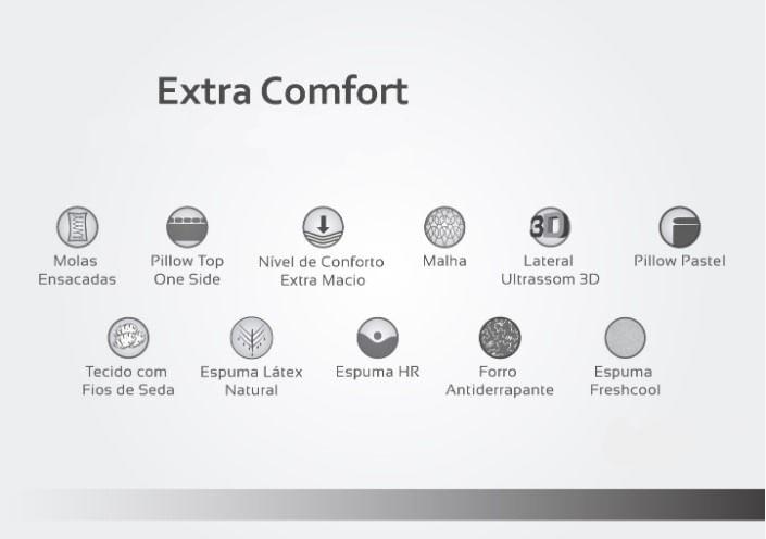 Colchão Casal Extra Confort One Side Pillow 158x198x36 - 61877