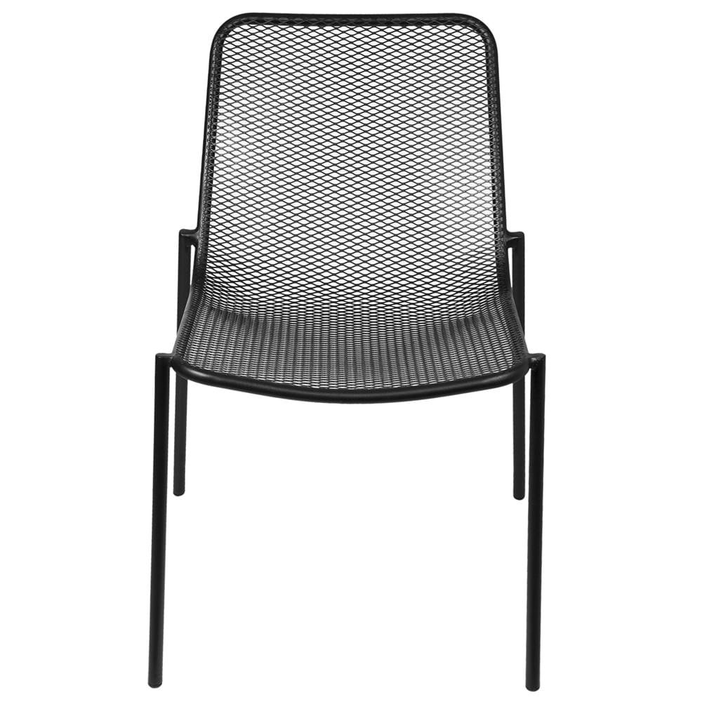 Cadeira Luma sem Braco com Pintura Epoxi cor Preta - 61000