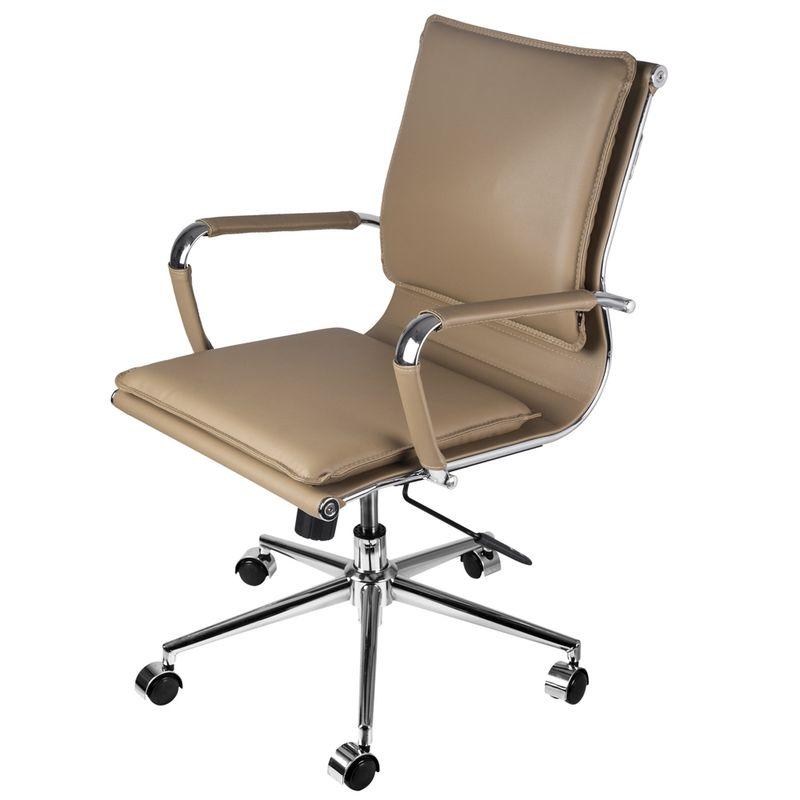 Cadeira-Office-Eames-Baixa-Assento-Courino-Caramelo-com-Base-Cromada---61947