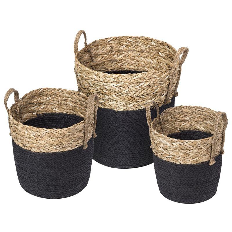 Kit-3-Cestos-Pattani-em-Fibra-Natural-Seagrass-com-Preto---62010