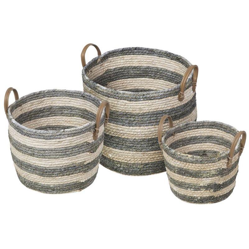 Kit-3-Cestos-Krabi-em-Fibra-Natural-Seagrass-com-Verde---62017