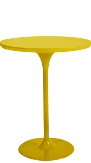 Mesa de Apoio Gian Amarela 49,5cm - 62025