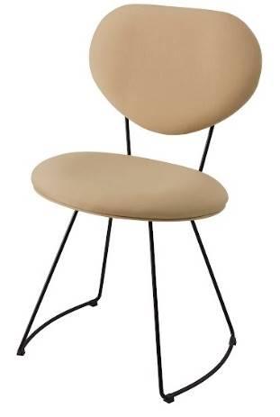Cadeira Pimpom Bege Base Curve Preta 51cm - 62062