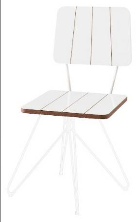 Cadeira Costinha Branca Base Estrela Branca 80cm - 62076
