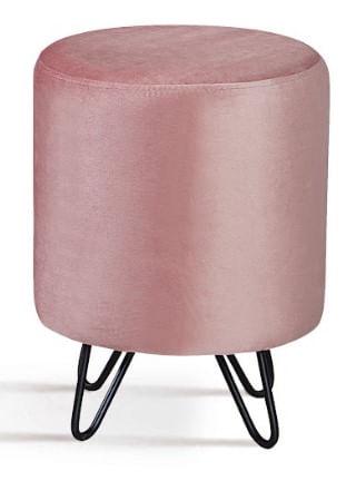 Puff Round Rosa Base Estrela Preta 45cm - 62145