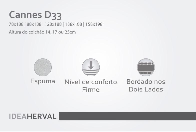 Colchao Cannes Casal Espuma D33 158x198x17 - 61970