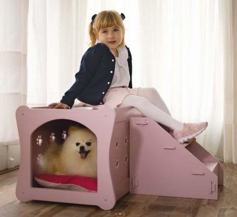 Casinha Pet Rosa Com Almofadas 41cm - 62297