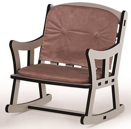 Cadeira Pet Balanço Light Off White Com Almofadas Rosé 52cm - 62303