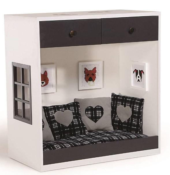 Balcão Suite Pet Branco Acabamento Preto 90cm - 62329