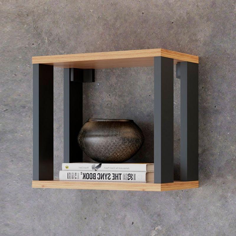 Nicho-Quadrado-Cleveland-cor-Freijo-com-Preto-Fosco-30-cm---62300