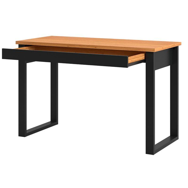 Escrivaninha-Cleveland-1-Gaveta-cor-Freijo-com-Preto-Fosco-118-cm---62328