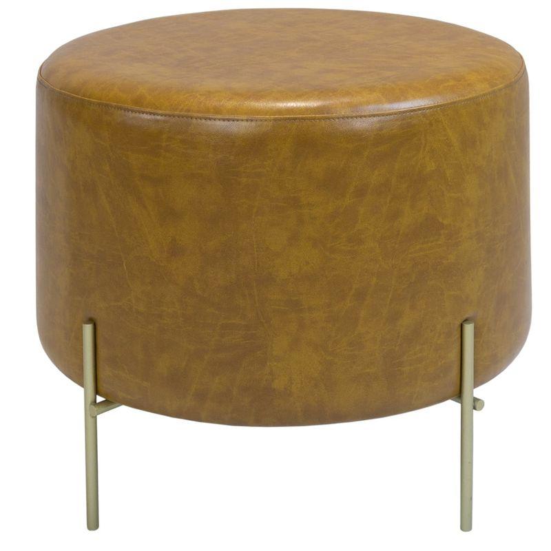 Puff-Golden-Redondo-Alto-PU-Caramelo-e-Base-Gold