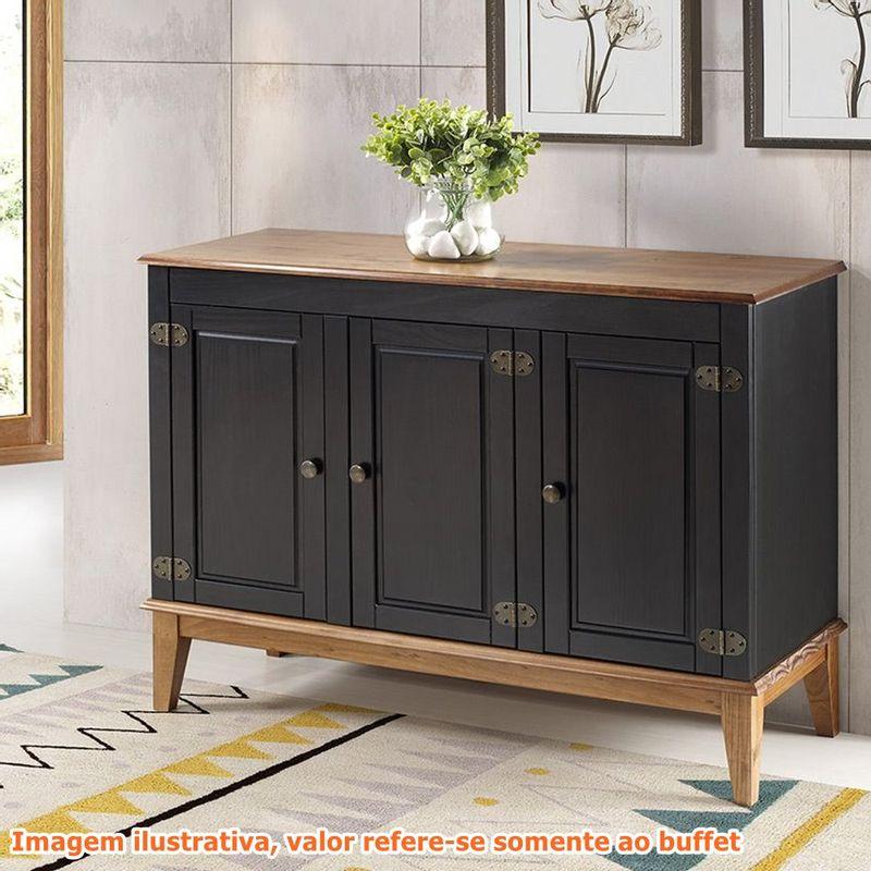 Buffet-Antoine-3-Portas-cor-Preto-com-Amendoa-114-cm---62645