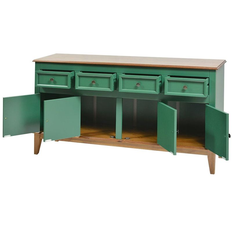 Buffet-Antoine-4-Portas-e-4-Gavetas-cor-Verde-com-Amendoa-149-cm---62689