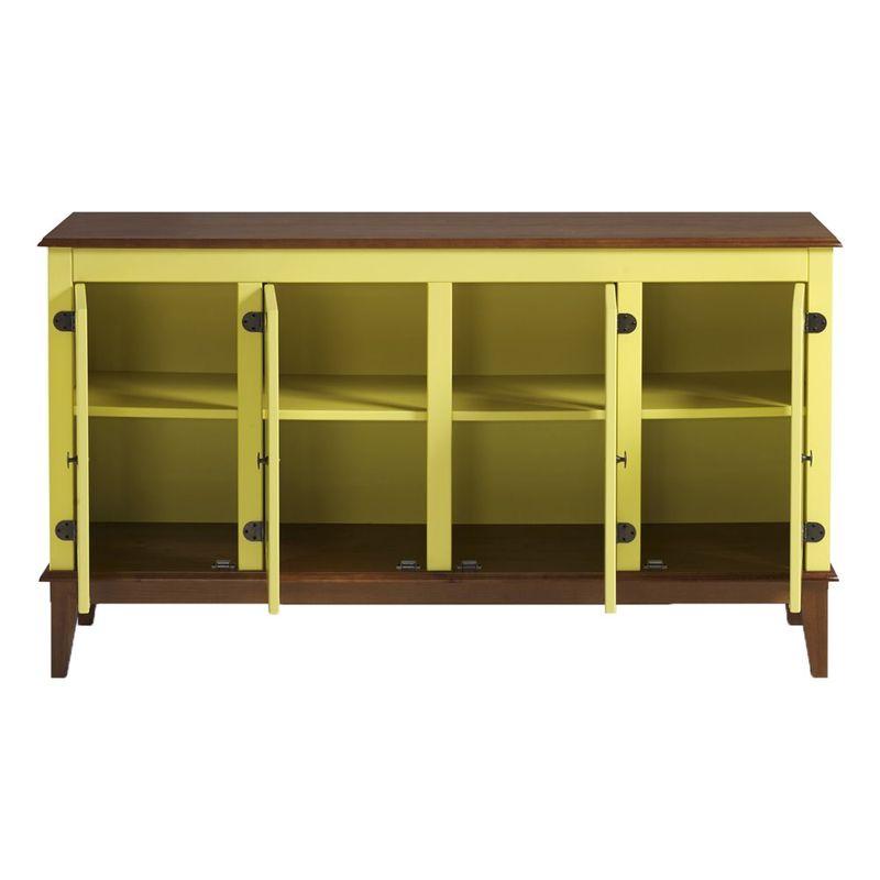 Buffet-Antoine-4-Portas-cor-Amarelo-com-Amendoa-149-cm---62768