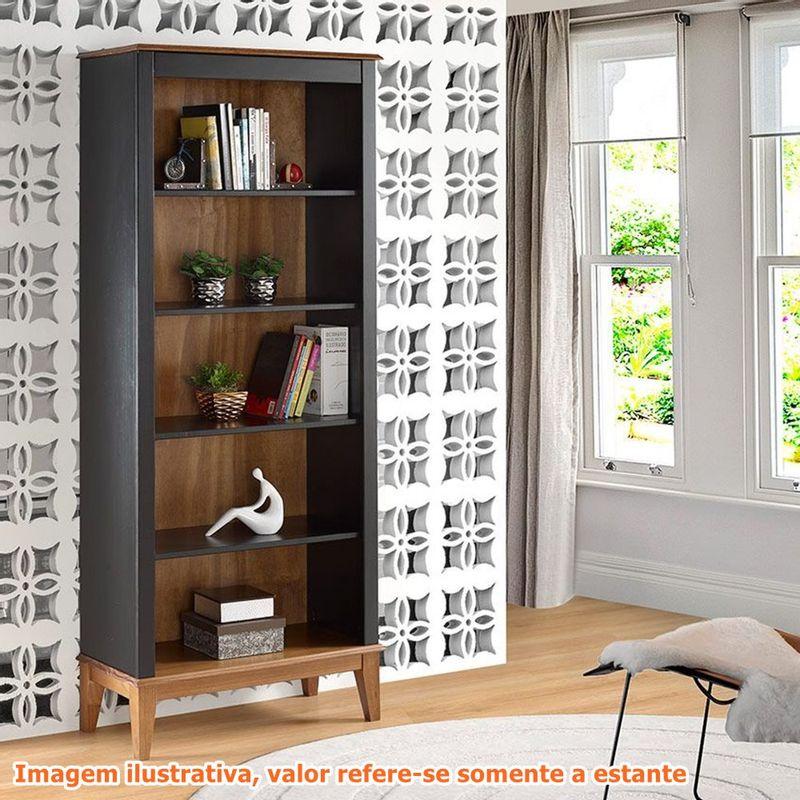 Estante-England-4-Prateleiras-cor-Preto-com-Amendoa-180cm---62795