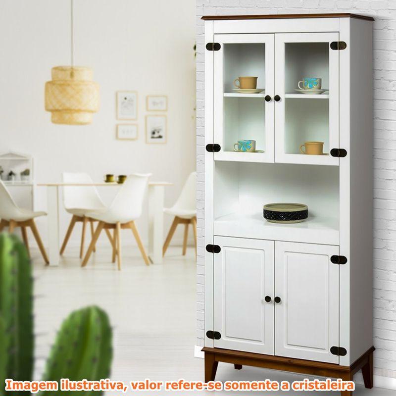 Cristaleira-Malu-4-Portas-cor-Branco-com-Base-Amendoa-180-cm---62824