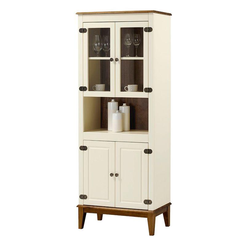 Cristaleira-Malu-4-Portas-cor-Off-White-com-Amendoa-180-cm---62825