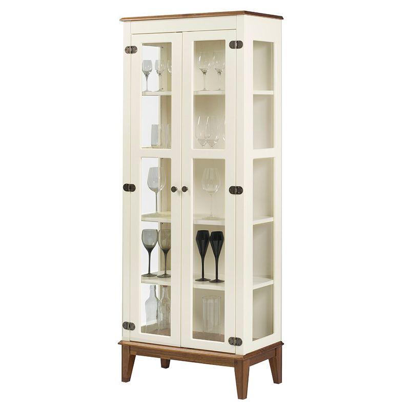 Cristaleira-Bia-2-Portas-cor-Off-White-com-Base-Amendoa-180-cm---62926