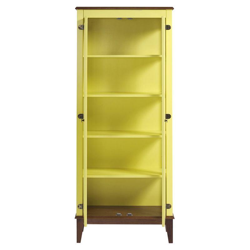 Cristaleira-Bia-2-Portas-cor-Amarelo-com-Base-Amendoa-180-cm---62928