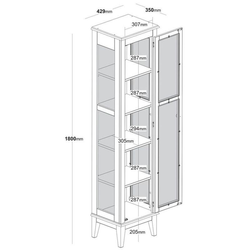 Cristaleira-Remy-1-Porta-cor-Cinza-com-Base-Amendoa-180-cm---60757