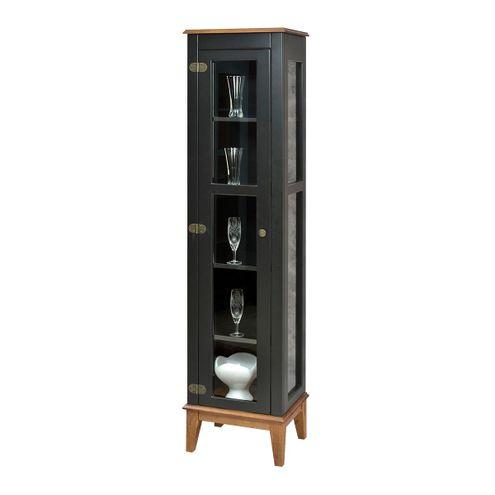 Cristaleira-Remy-1-Porta-cor-Preto-com-Base-Amendoa-180-cm---60758