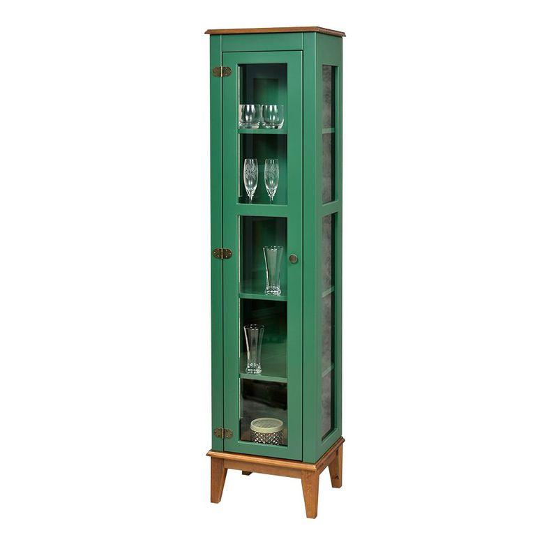 Cristaleira-Remy-1-Porta-cor-Verde-com-Base-Amendoa-180-cm---62965