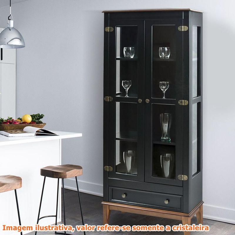 Cristaleira-Bia-2-Portas-e-1-Gavetas-cor-Preto-com-Amendoa-180-cm---60754