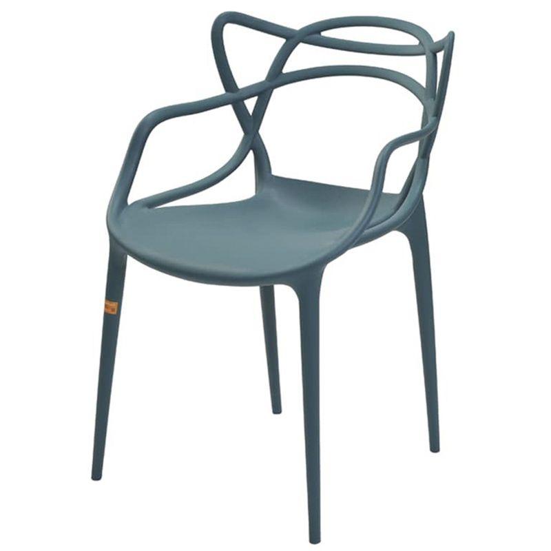 Cadeira-Master-Allegra-Polipropileno-Verde-Petroleo