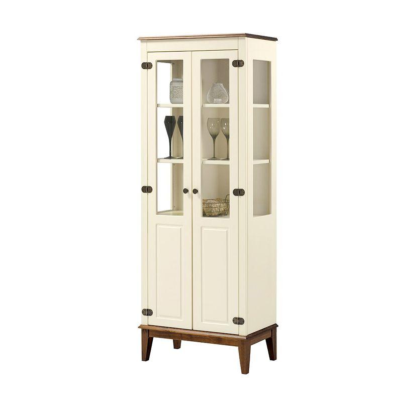 Cristaleira-Laura-2-Portas-cor-Off-White-com-Amendoa-180-cm---63398
