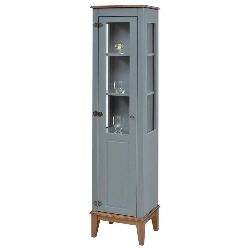 Cristaleira-Laura-1-Porta-cor-Cinza-com-Amendoa-180-cm---63427