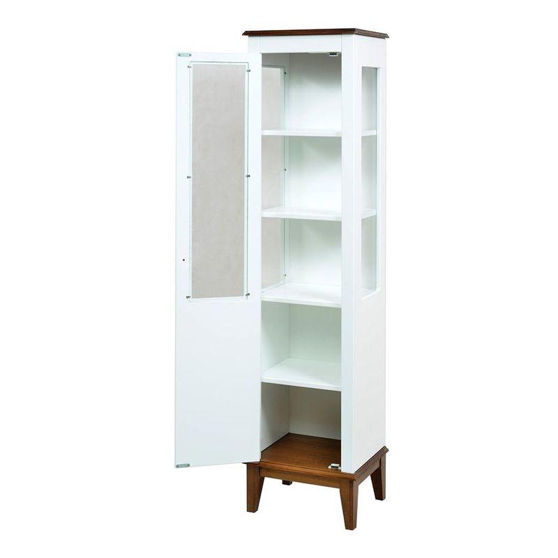 Cristaleira-Laura-1-Porta-cor-Branco-com-Amendoa-180-cm---59943