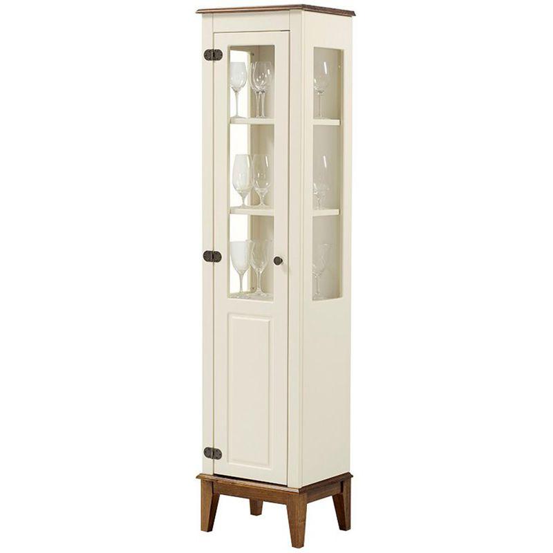 Cristaleira-Laura-1-Porta-cor-Off-White-com-Amendoa-180-cm---63430