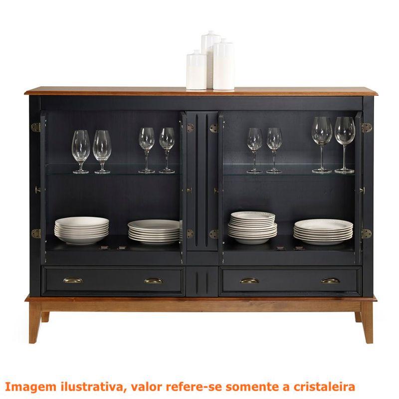 Cristaleira-Agatha-4-Portas-e-2-Gavetas-cor-Preto-com-Amendoa-149-cm---63475