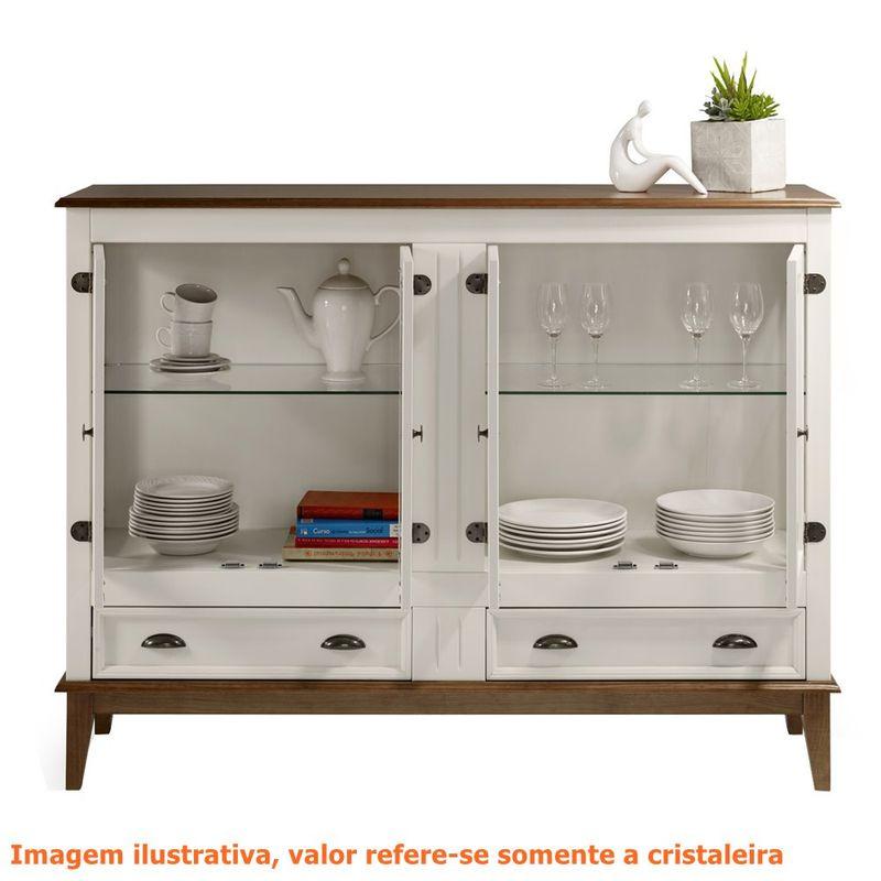 Cristaleira-Agatha-4-Portas-e-2-Gavetas-cor-Off-White-com-Amendoa-149-cm---63540