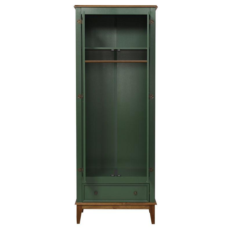 Armario-Malibu-2-Portas-e-1-Gaveta-cor-Verde-com-Amendoa-204-cm---63567