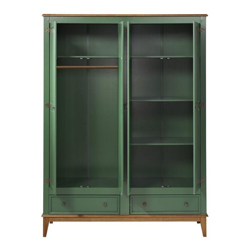 Armario-Malibu-4-Portas-e-2-Gavetas-cor-Verde-com-Amendoa-204-cm---63658
