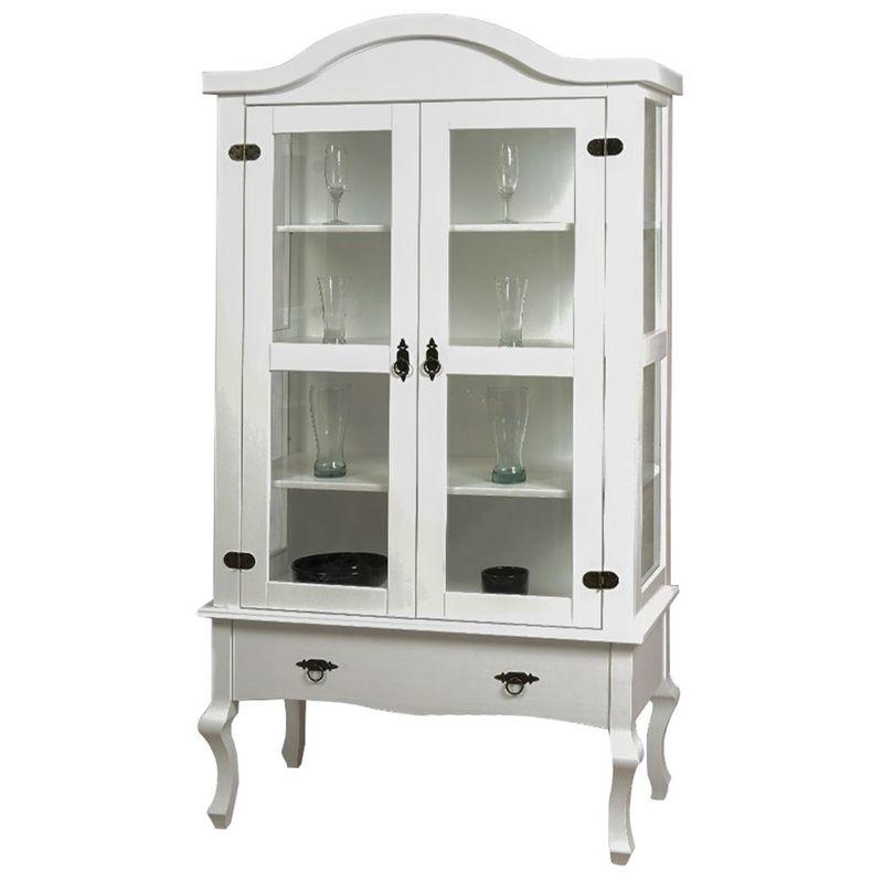 Cristaleira-Versalhes-2-Portas-e-1-Gaveta-cor-Branco-192-cm---63702