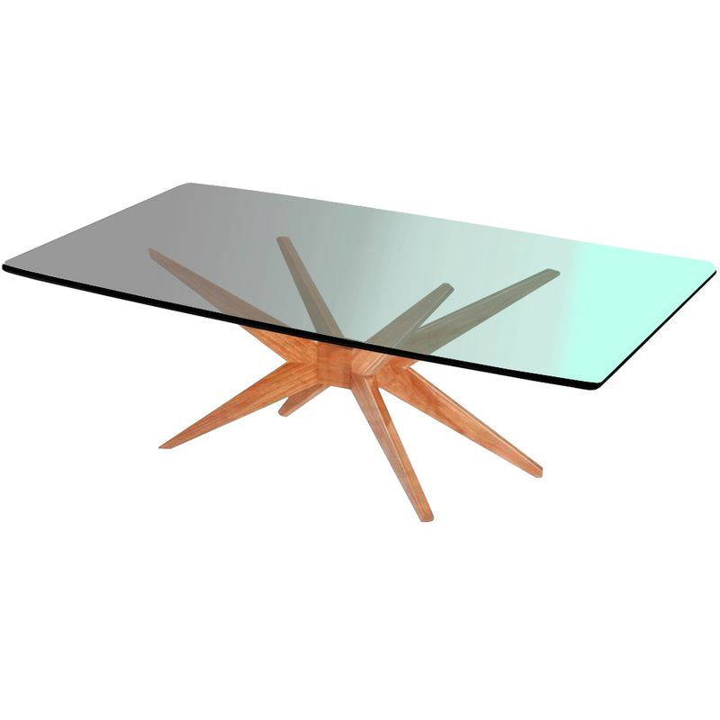 Mesa-Jantar-XS-Retangular-Tampo-Barril-Vidro-Incolor-10mm-Base-Mel-150-cm---64098